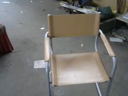 chaise en cuir beige
