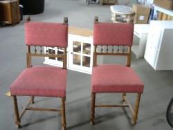 chaise tissu rouge