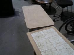 table basse sablée
