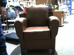 fauteuil vintage marron