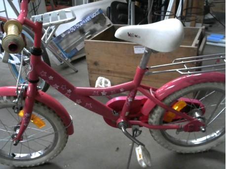 velo enfant rose