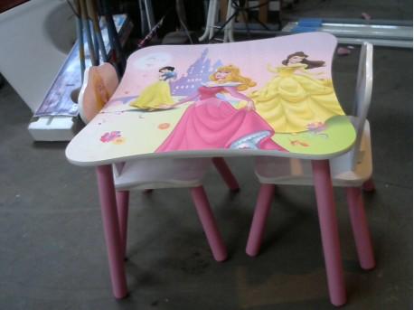 table + 2 chaises enfant