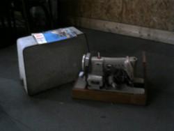 Machine à coudre en l'état